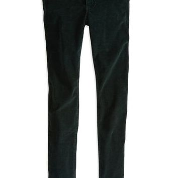 AEO Women's Hi-rise Corduroy Jegging (Green Forest)