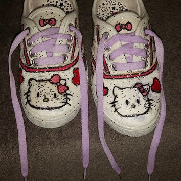 Custom Painted Shoes Hello Kitty Kids size 10