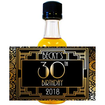 Gatsby - Birthday Mini Bottle Labels