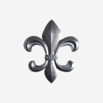Fleur De Lis | French Inspired Decor | Silver Resin