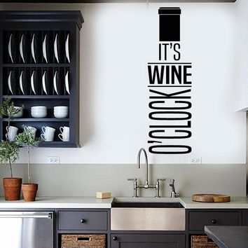 Vinyl Wall Decal Wine Quote Bottle Alcohol Bar Restaurant Decor Stickers Unique Gift (ig4499)