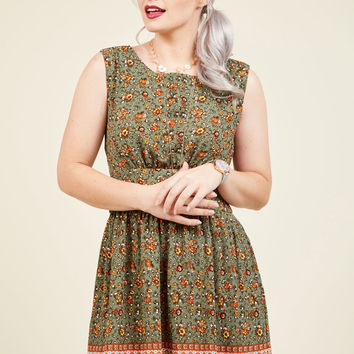 Next Up, Nashville Dress in Sage Bouquet | Mod Retro Vintage Dresses | ModCloth.com