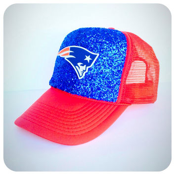 New England Patriots Glitter Hat