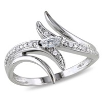 Diamond Fashion Ring in 10k White Gold