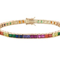 Colorful Tennis Bracelet- Square