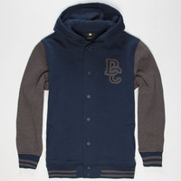 Dc Shoes Division Boys Varsity Jacket Navy  In Sizes