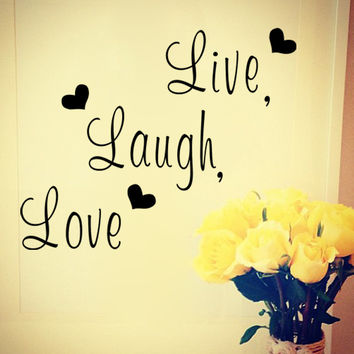 Live laugh love Inspirational quote vinyl wall sticker home decor living room sofa DIY wall decals home decoration SM6