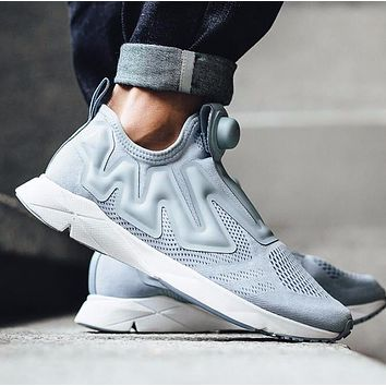 Sale Reebok Pump Supreme Engine Cable Grey/White BS7043 Fashion Shoes Sneaker Casual Shoes