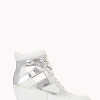 FOREVER 21 Clear Cut Wedge Sneakers