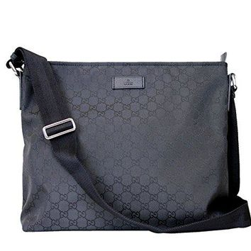 Gucci Unisex Black Nylon Messenger Bag 339569 1000