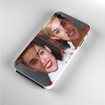 Justin and Miley Look Alike iPhone 4s Case
