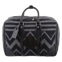 Louis Vuitton Limited Edition Wool Top Handle Travel Weekender Carryall Bag