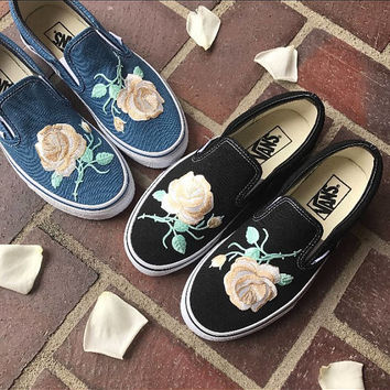 Embroidered slip on Vans