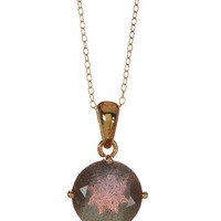 On HauteLook: Candela | 18K Yellow Gold Plated Sterling Silver Round Labradorite Necklace