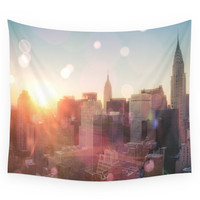 Society6 New York City Skyline Love Wall Tapestry