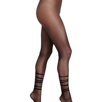 Tessa Sheer Tights, Black, Size: