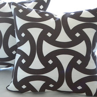 Trina Turk for Schumacher,Decorative Designer Pillow Cover  - Java Chocolate -Throw Pillow cover 18 x 18