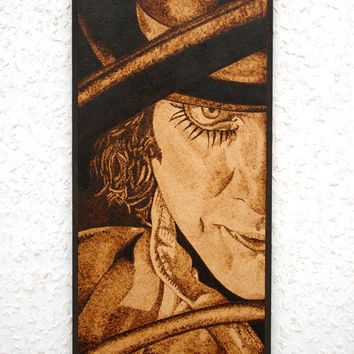 Clockwork orange art - Alex DeLarge woodburned home decoration