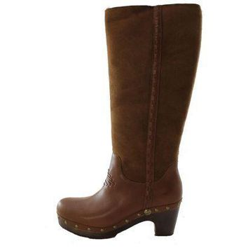 PEAPNO Authentic UGG Australia Jemma Tall Women's Charcolate Brown Shearling Fur Winter Boots