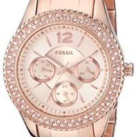 Fossil Women's ES3590 Stella Multifunction Stainless Steel Watch - Rose Gold-Tone