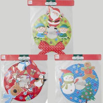 Christmas Wreath Glitter & Tip-On Paper - CASE OF 48