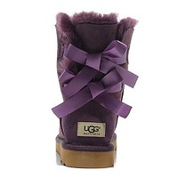 Tagre™ UGG Women Bow Fur Leather Boots In Tube Boots Shoes