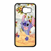 Disney Stitch Floral Samsung Galaxy S6 Case