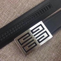 Givenchy Woman Men Fashion Smooth Buckle Belt Leather Belt