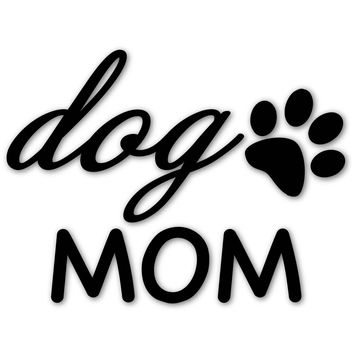 Premium Dog Mom, Paw Print Vinyl Decal, Window Sticker, Weatherproof Outdoor, UV Protected, 5 Inch Decal, Made in USA