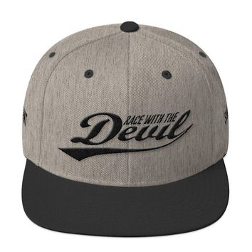 Race With The Devil Wool Blend Heather Snapback hat