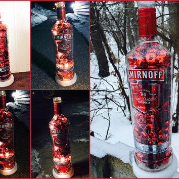 Smirnoff Red vodka, bachelor party, man cave, father's day, birthday Decor, birthday present, 21st birthday, college graduation, home decor