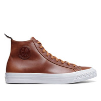 PF Flyers Saddle Brown Leather Rambler High Top