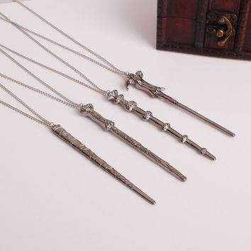 Harry Potter Hermione Dumbledore Voldemort Magic Wand Necklace