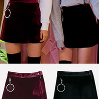 Hanging Ring Velvet Skirt