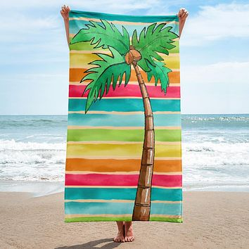 Rainbows, Palm Trees and You - Towel