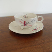 Vintage,Mid Century,Atomic,Cup and Saucer by Salem