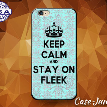 Keep Calm And Stay On Fleek Mint Damask Pattern Cute Custom Case For iPhone 4 and 4s and iPhone 5 and 5s and 5c and iPhone 6 and 6 Plus +