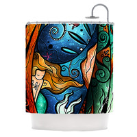 "Mandie Manzano ""Fathoms Below Mermaid"" Shower Curtain"