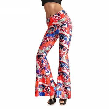 Red Dragon Bell Bottom Pants
