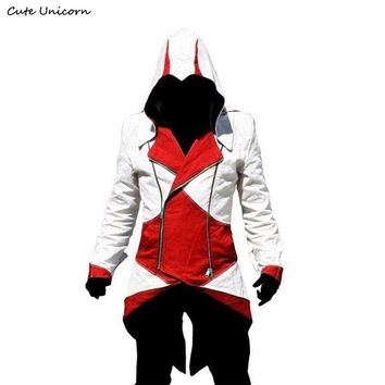 Stylish Slim fit Creed Hoodies Assassins Cosplay Costume Conner Kenway Hoodie mens jackets and coats Overcoat Hoody Jacket