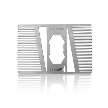 21 Stainless Steel Beard Comb with Bottle Opener