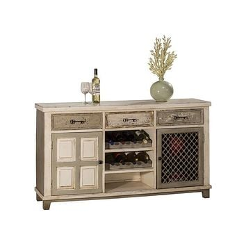 5808 LaRose (2) Door Console Table with Removable Wine Rack
