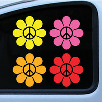 2 sets VW Flower Power Ricky Ticky Stickies stickers For Your Car Kit SMALL Set