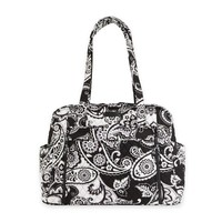 Vera Bradley® Stroll Around Midnight Paisley Baby Bag in Black/White