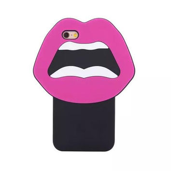 Pink Lips Silicone iphone 6 case