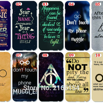 Harry potter Quote Cover For iphone 5 5S SE 5C 6 6S 7 Plus Touch 5 6 For Samsung Galaxy S3 S4 S5 Mini S6 S7 Edge Note 3 4 5 Case