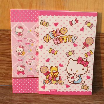 1 Pcs hot Monthly Planner Cartoon Hello Kitty Weekly Planner Accessories Notebook Kids Gift notebook stationery