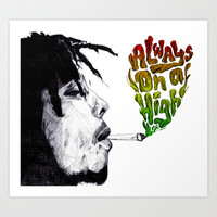 Bob Marley Art Print by DeMoose
