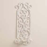 White Metal Scroll Wall Sconce - World Market