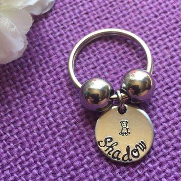 Dog Keychain - Dog Memorial Keychain - Dog Loss - Pet loss gift - Pet memorial jewelry - Pet Keychain - Dog Remembrance - Hand stamped